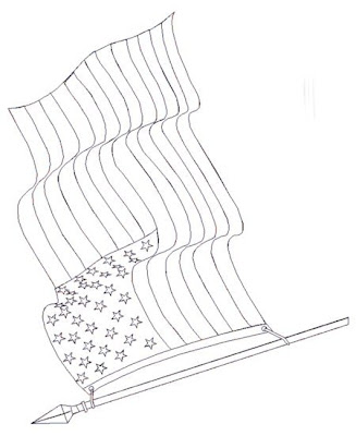 Printable American Flag Coloring Page
