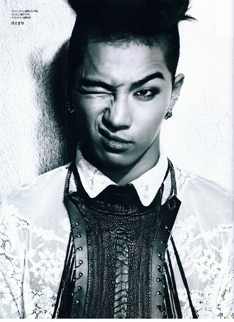 Taeyang L'Officiel Hommes Magazine Scans