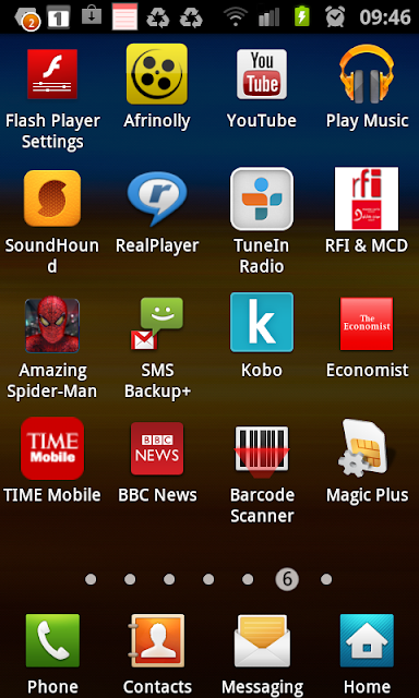 Economist, Time Mobile, Kobo, SMS Backup+, BBC News, Barcode Scanner, SoundHound, TuneIn Radio, RealPlayer