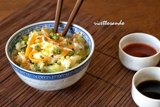 Riso saltato con verdura ricetta di riso alla cantonese
