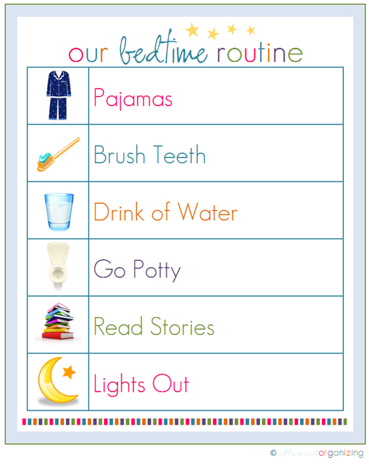 This is a picture of Insane Children's Routine Charts Free Printable