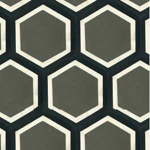 "Mission Hexagonal Frame 8"" Cement Tile 
