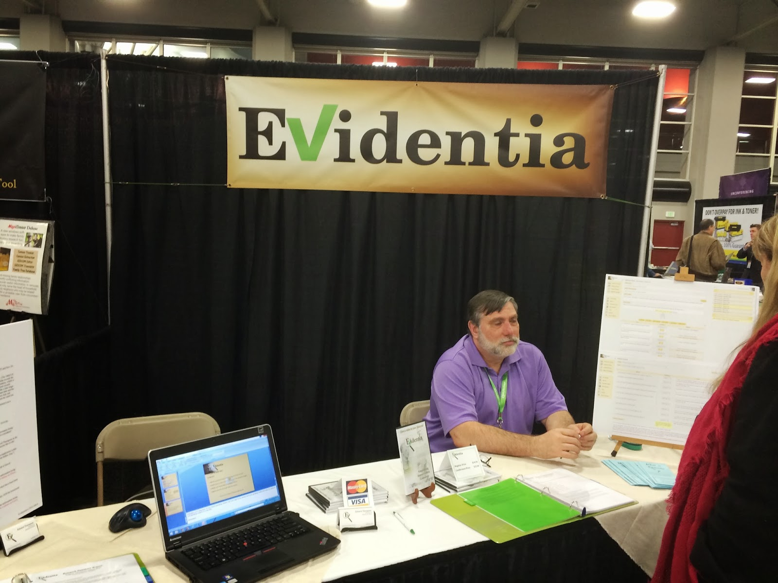 Evidentia Display and Ed Thompson at Expo Hall