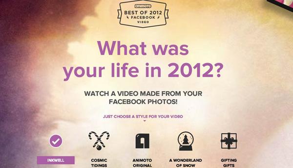 Facebook video 2012