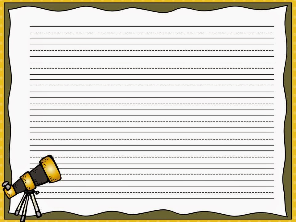 writing paper with picture on top Printable writing paper to learn and practice handwriting for preschoolers, kindergarden and early elementary.