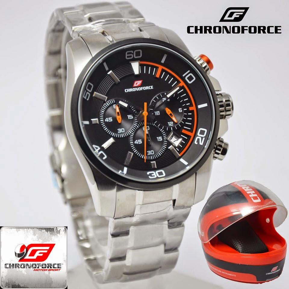 Harga Jam Chronoforce 5220msb Silver Plat Putih Jual Tangan Pria Original Murah Casio Gc Guess Nautica Suunto