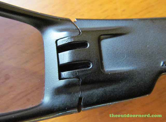 Oakley GasCan Sunglasses: Another Closeup Of Hinge