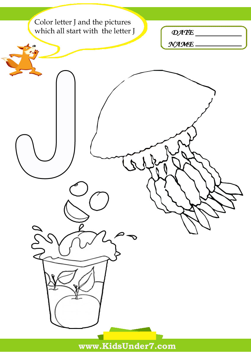 Marvelous Letter J Coloring Pages