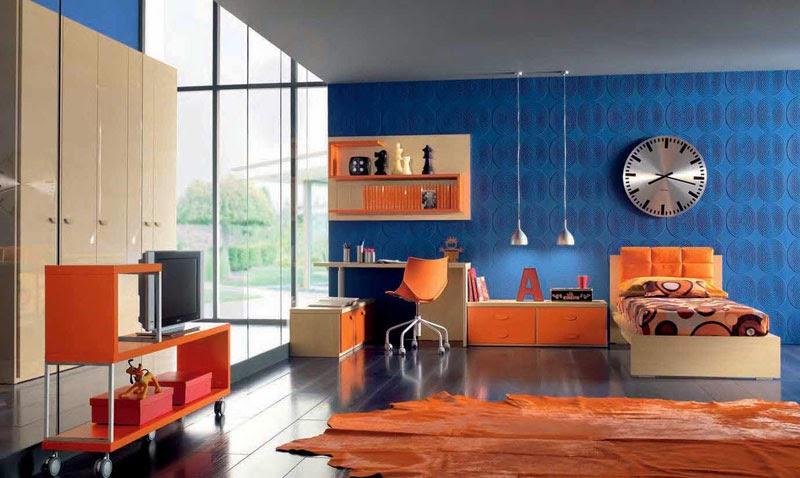 Blue And Orange Bedroom Ideas