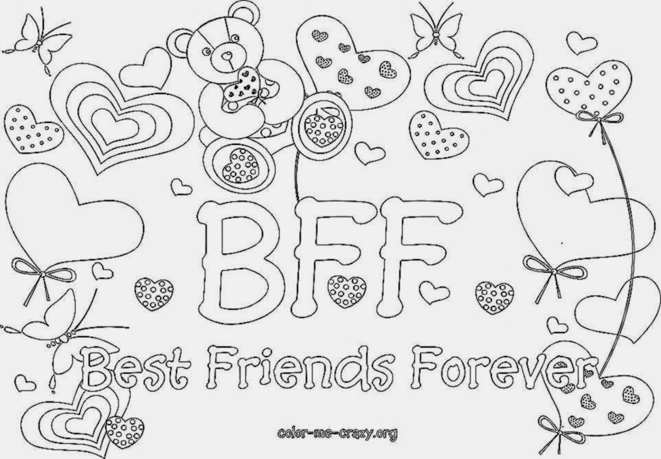 Coloring Pages For Best Friends : Bff diploma coloring pages