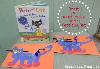 Pete the Cat Craft, Book Activity, Ready. Set. Read, Make and Takes Storybook Summer Series