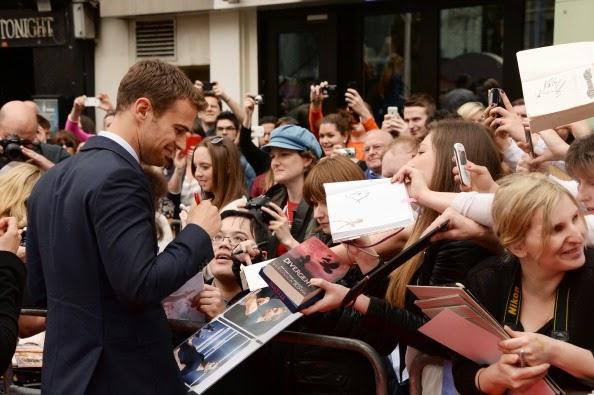 Theo James in Alexander McQueen - 'Divergent' European Premiere