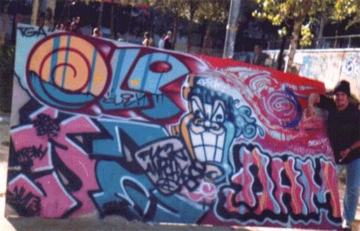 Exhibición graffiti Montana en  Pueblo Español 1994