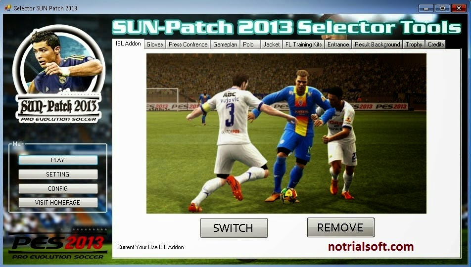 Update PES 2013 Sun Patch 2013 v 2.0 Latest 2014   DOWNLOAD NEW SOFTWARE FULL VERSION