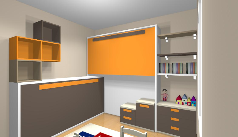 Ideas de dormitorios juveniles - Habitaciones juveniles con cama abatible ...
