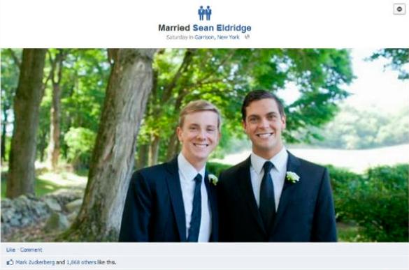 Co-fondatorul Facebook Chris Hughes s-a casatorit cu partenerul sau, Sean Eldridge.