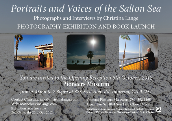 Flyer for Portraits and Voices of the Salton Sea