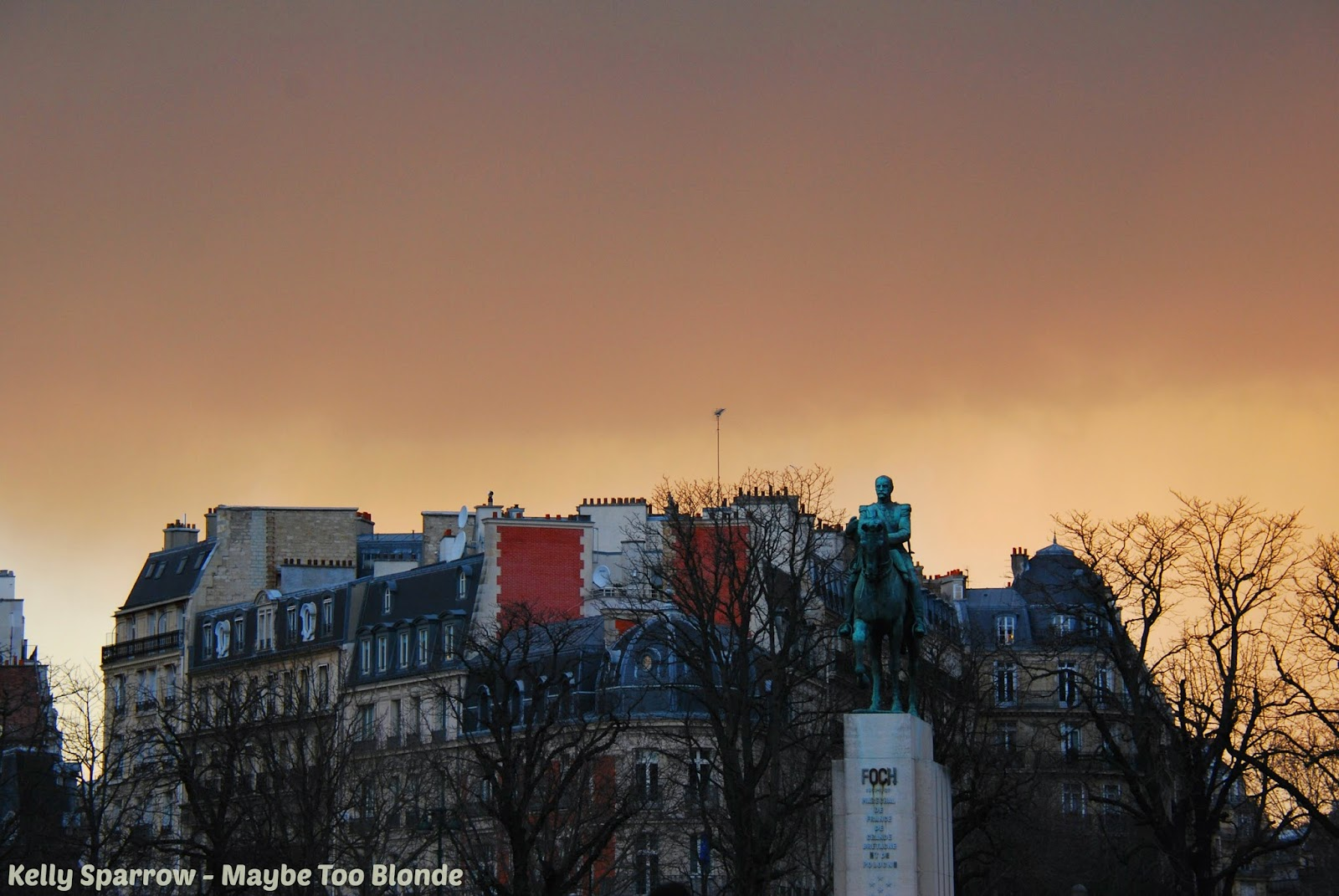 Paris France in the winter