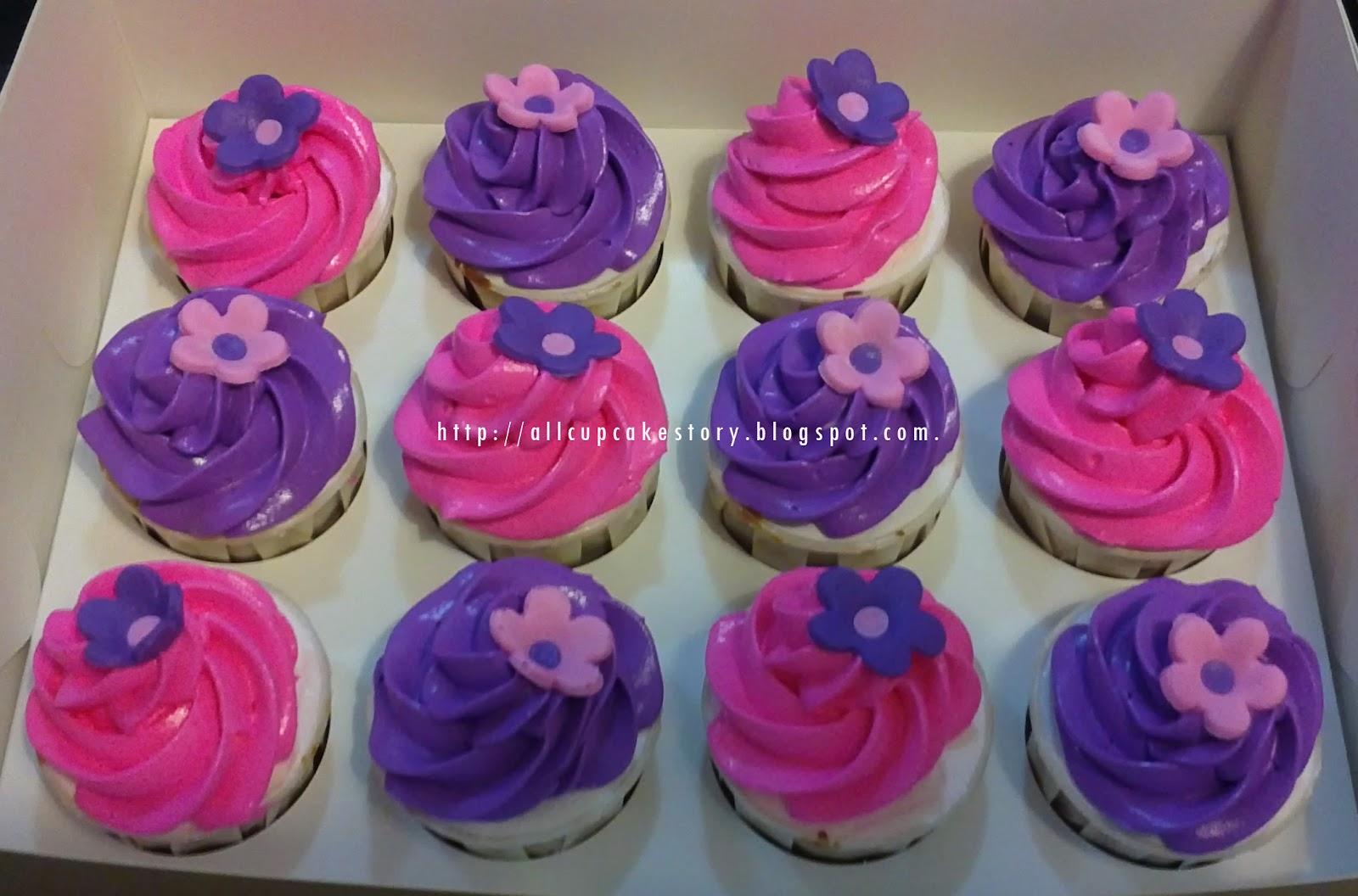 allcupcakestory pink purple engagement cake amp cupcake