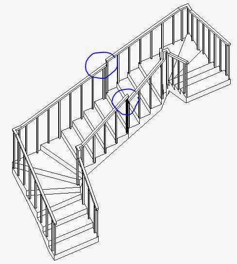... The Lower Run Not End With A Riser And Then Add Another Riser To The  Run   That Looks Ok But When You Finish The Stair You Get A Railing Height  Mismatch