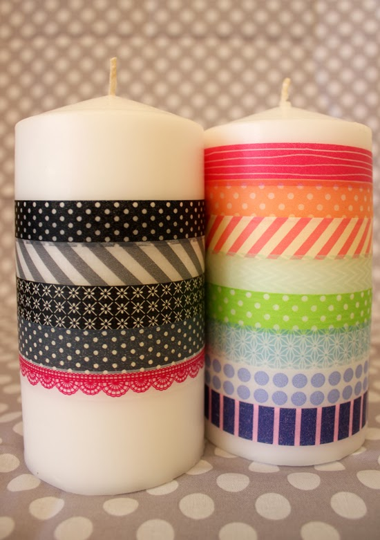 Las velas de tu boda decoraci n de velas con washi tape - Decoracion con washi tape ...