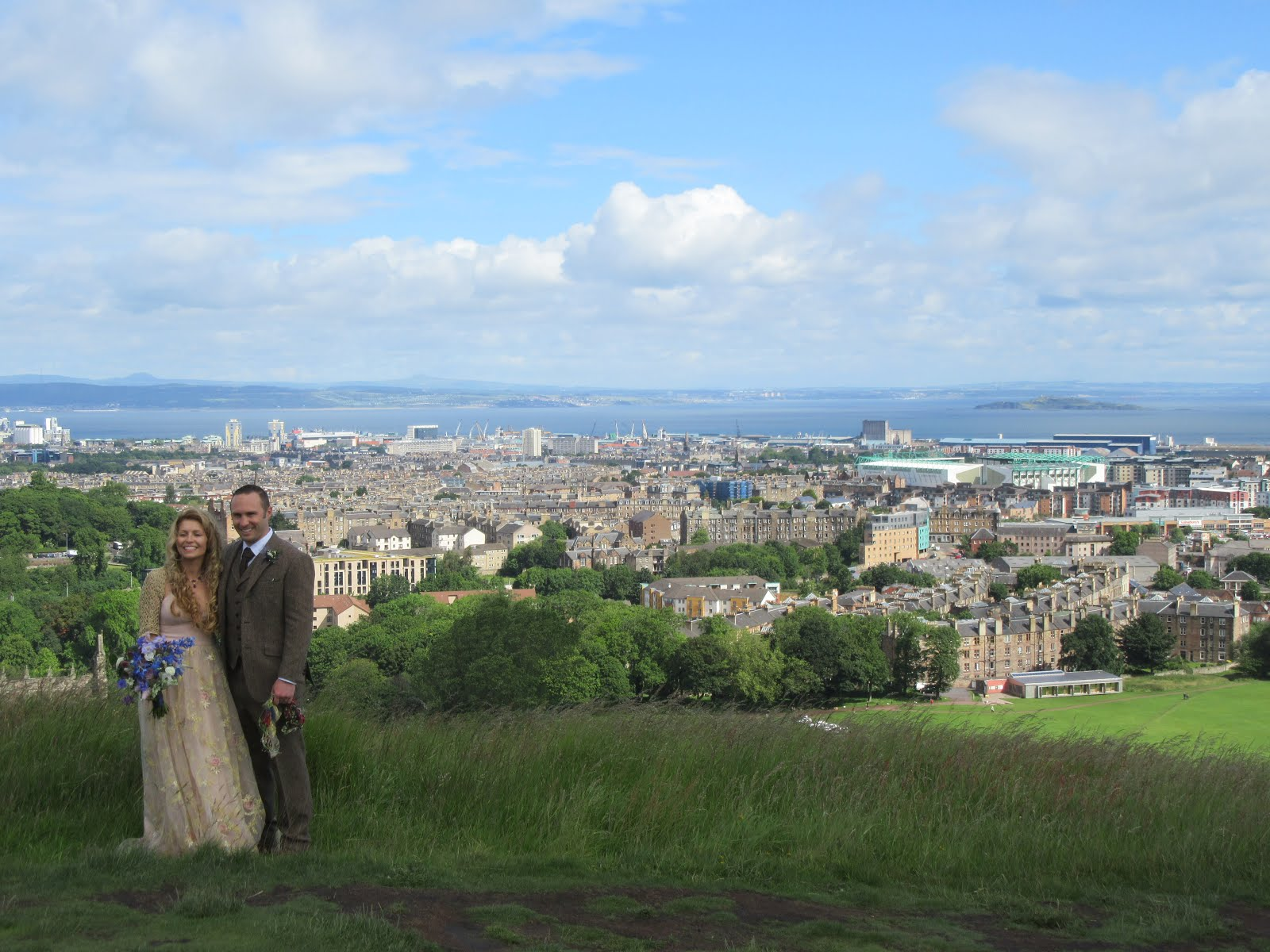 Great view - Holyrood Park looking towards Easter Road stadium.....