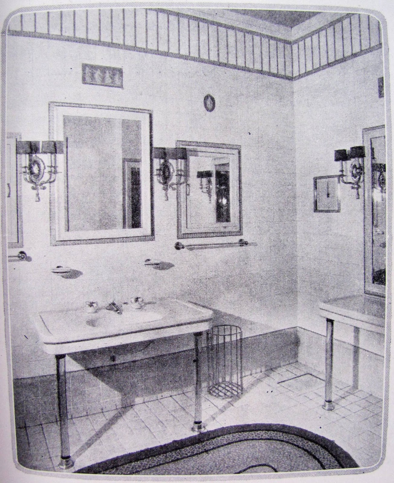 Studio garden bungalow 1920s vintage bathroom styles for Bathroom ideas 1920s home