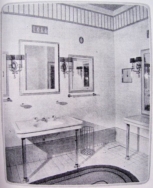 Vintage bathroom from the 1920's, from Studio, Garden and Bungalow