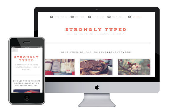StronglyTyped Responsive Html5 Template