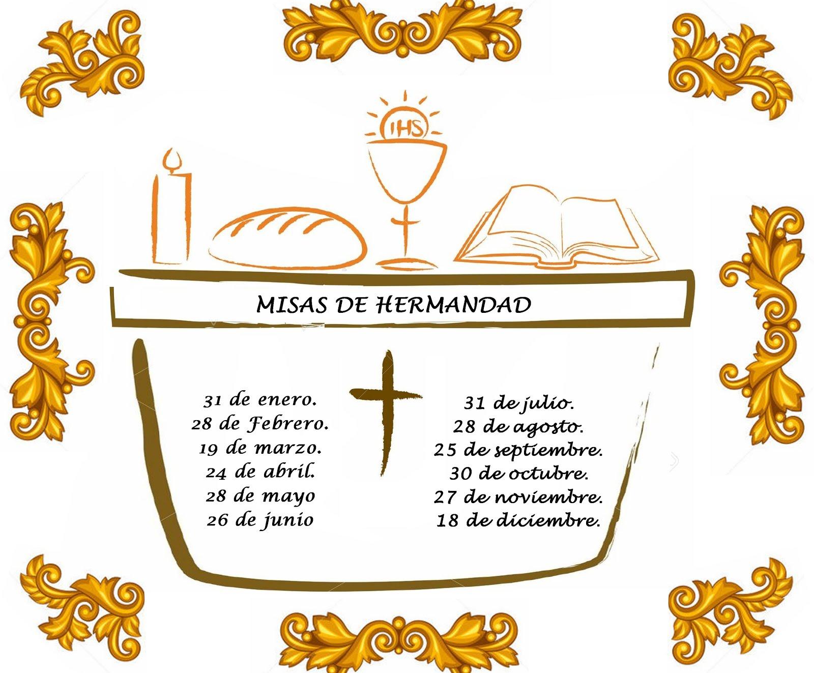 MISAS DE HERMANDAD