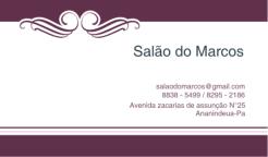 Cartão de visita do - Salão do Marcos
