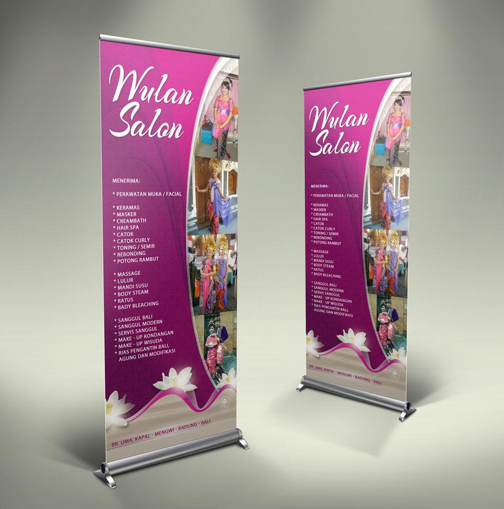 Roll Banner Salon Kecantikan Tutorial Desain Grafis