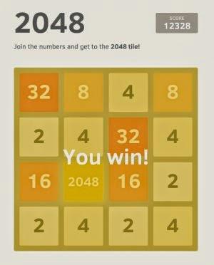 2048 Number puzzle game لعبة العاز الارقام للكمبيوتر