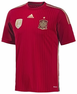 Jual Jersey Spanyol Home World Cup 2014