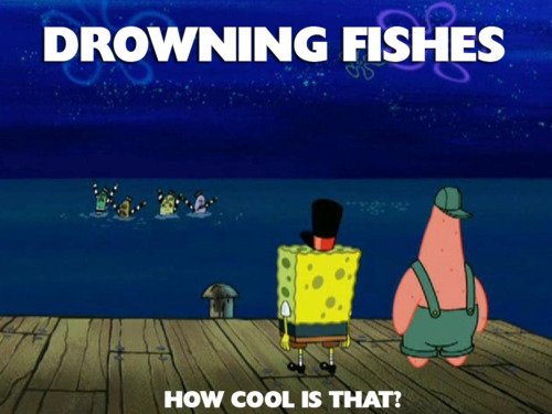 Drowning Fishes - How Cool Is That SpongeBob