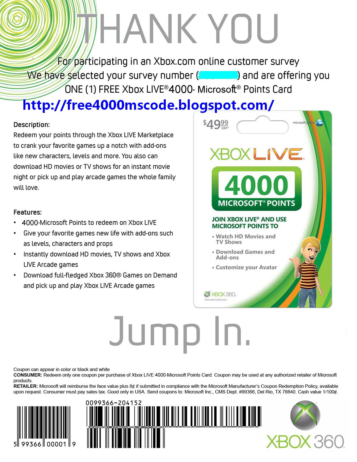 how to get free xbox live codes that work