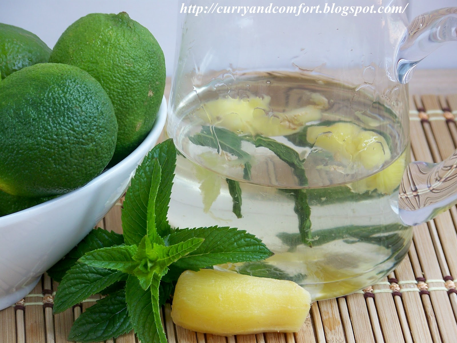 Kitchen Simmer: Fruit Salad with Lime Ginger Mint Syrup