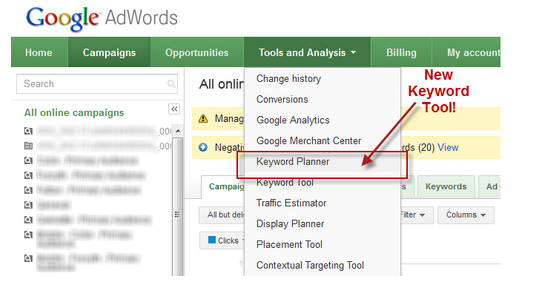 This is the new keyword tool for your seo planning