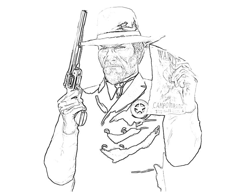 red dead redemption coloring pages - photo#4