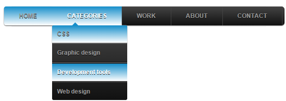 menu tabs with css3