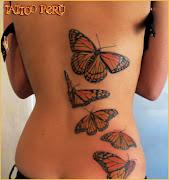 Tatuajes de mariposas en la espalda mariposas monarca