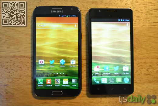 cherry mobile w500 titan samsung galaxy note 2 comparison
