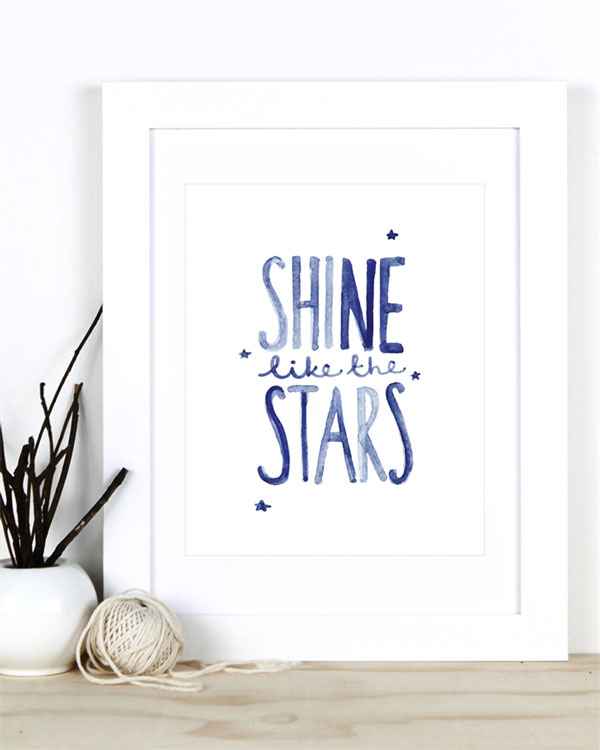 Shine Like The Stars 8x10 Print