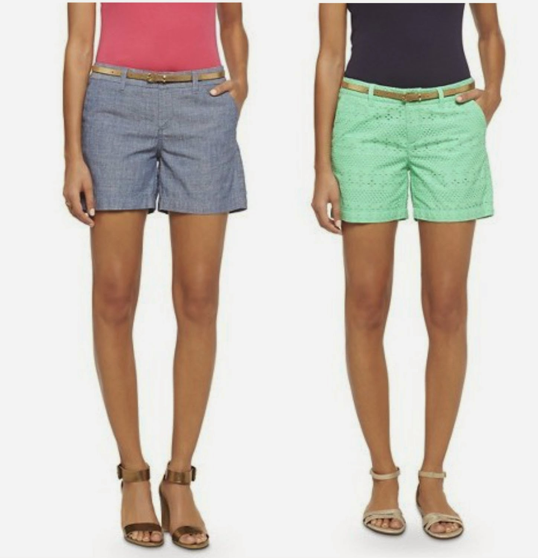 chambray shorts eyelet shorts