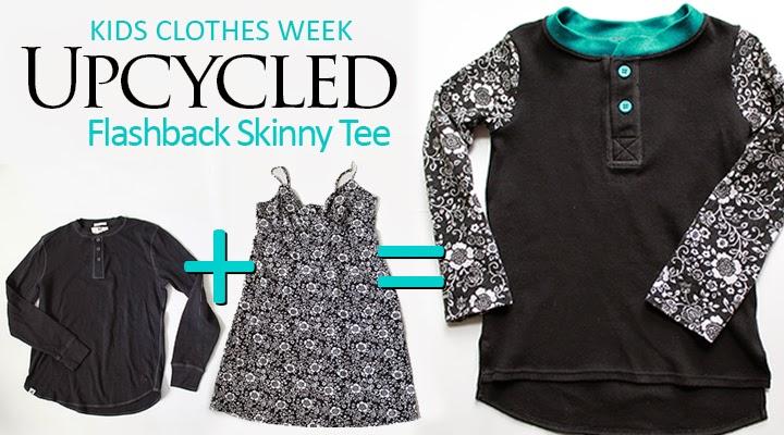 Upcycled Henley Tee + Sundress = Flashback Skinny Tee | The Inspired Wren