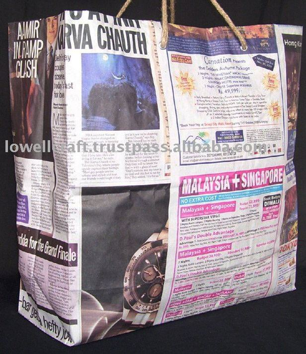 how to make gift bags with newspaper