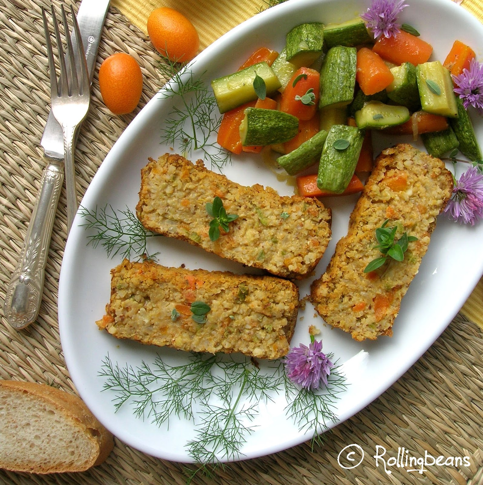 timballo di verdure e bulgur (vegan)