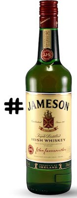 A bottle of Jameson preceded by the symbol, #