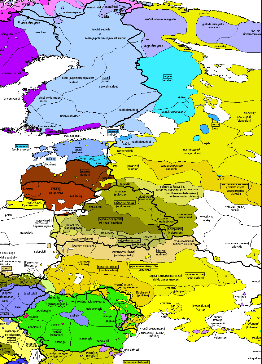 Belarusian language and dialects INDO EUROPEAN LANGUAGES MAP