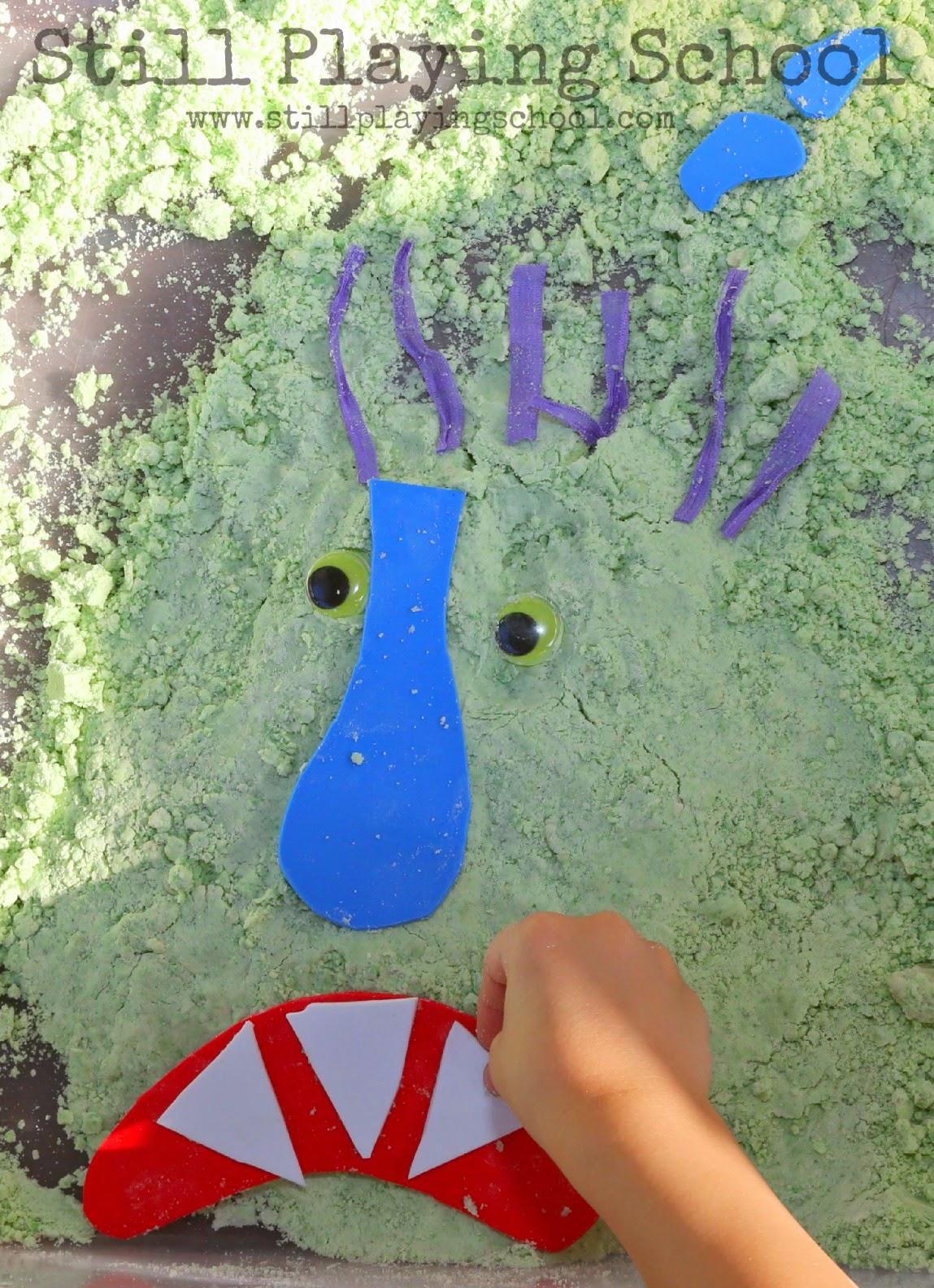 Go Away, Big Green Monster Cloud Dough   Still Playing School